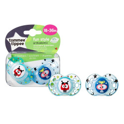 Tommee Tippee Fun Soother, 18-36 Months, Blue, Pack of 2