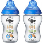 Tommee Tippee Closer to Nature 340 ml Decorated Bottle, Blue
