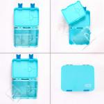 GenioWorld Bento Lunch Box 6 Compatment- Blue