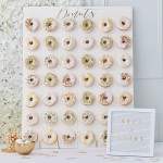 Ginger Ray GO133 Large Wedding Donuts Wall Decor - Gold