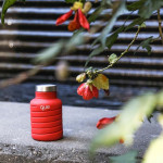 Que Collapsible Water Bottle, Bonfire Red, 590 ml