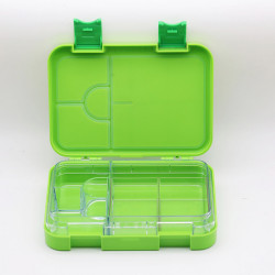 GenioWorld Bento Lunch Box 6 Compartment, Leak Proof, Green