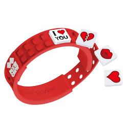 Pixie Friendship Wristband-Love/Red