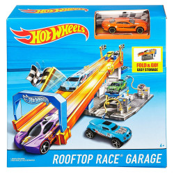 Hot Wheels Fold & Go Rooftop Race Garage