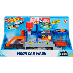 Hot Wheels FTB66 City Mega Car Wash Connectable Play Set with Diecast