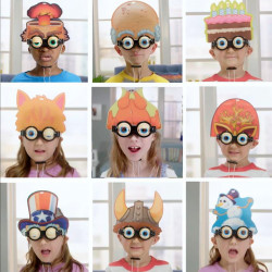 Blonkers Interchangeable Header Spectacles with Interactive Eyes, Assortment