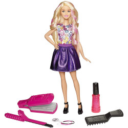 Barbie Fashion and Beauty DIY Crimps and Curls Doll Hair Play Doll, Style