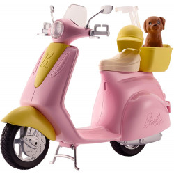 Barbie Motorbike for Doll, Pink Scooter, Vehicle, Multi-Colour
