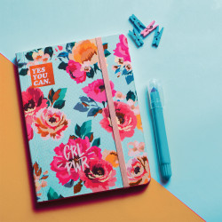Blue Vintage Floral Summer Notebook A6 Size