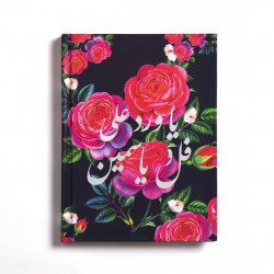 Floral Arabic Notebook Roses Hardcover A5 Size