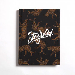 Cheetah Notebook Hardcover (Stay wild) A5 Size