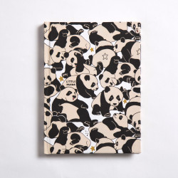 Panda Notebook Hardcover A6 Size