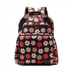 Colorland Diaper Bag Travel Backpack, Pink & Brown