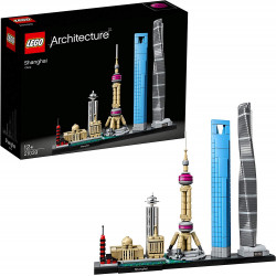 LEGO Architecture Shanghai Model Building Set with the Shanghai Tower and World Financial Centre