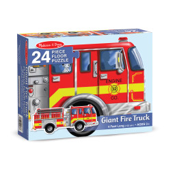 Melissa & Doug Giant Fire Truck Floor 24 Pieces