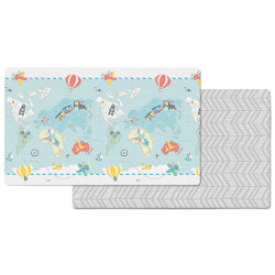 "Skip Hop Little Travelers Reversible Waterproof Foam Baby Play Mat, Multi Colored, 86"" X 52"""