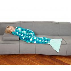 Kanguru The Sirena Kids Fleece mermaid blanket - Turquoise