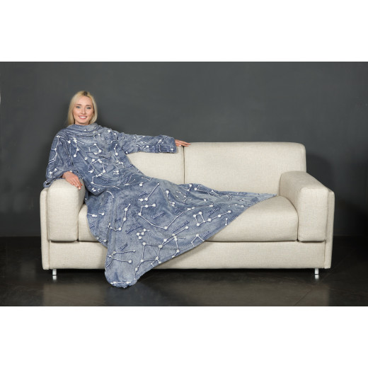 KANGURU Deluxe GLOW Fleece Blanket With Sleeves