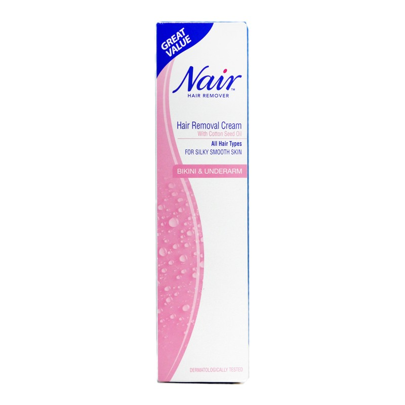 Nair Hair Removal Cream With Cotton Seed Oil For Bikini Underarm