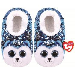 TY Fashion Sequin Slipper Socks Slush Size Large (4-6)
