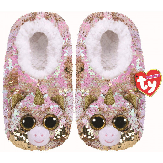 Stuffems Toy Shop Ty Flippable Fashion Slipper Socks - Fantasia - Size Small (11-13)