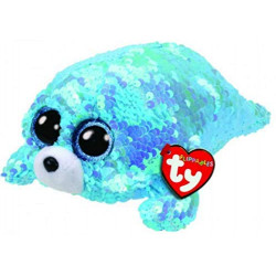 """Ty Beanie Flippables New 6"""" Wave, Perfect Plush!"""