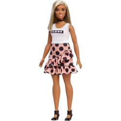 Barbie Fashionistas 111 Dotted Skirt And White T-Shirt