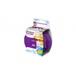 Sistema To Go Microwave Egg Cooker Easy Eggs, 270 ml - Purple
