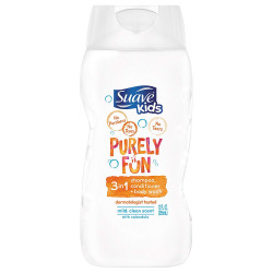 Suave Kids 3 in 1 Shampoo Conditioner Body Wash, Purely Fun Moisturizing, 355 ml