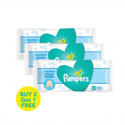 Pampers Complete Clean Baby Wipes - Baby Fresh Scent, Wipes 3x Pack 192
