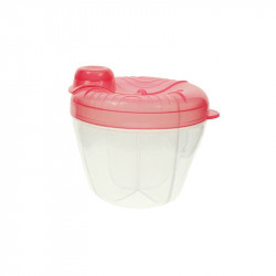 Potato Portable Four Compartment Milk Powder Box, Pink