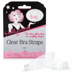 Hollywood Fashion Secrets Clear Bra Straps, 2 pairs