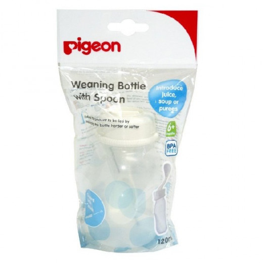 Pigeon Weaning Bottle With Spoon - 120ml