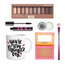 Misslyn Gift, Package Number 1 of Makeup with Beautiful Mug