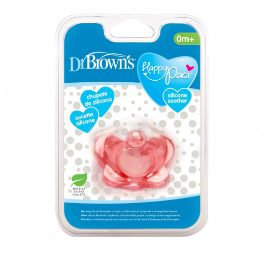 Dr. Brown's One Piece Silicone Soother, Pink
