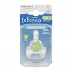 """Dr. Brown's Level 4 Y-Cut Silicone Standard -Neck """"Options"""" Nipple - 2 Pack"""