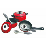 PlayGo Coloured Tin - Red - 8 PCS (MetaL CookWare)