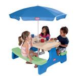 طاولة النزهات مع مظلة من ليتل تايكس - ازرق \ اخضر