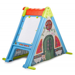 Feber Play and Fold Activity House 3 in 1 Playset, Easy to Store, Indoor and Outdoor, Multicolor