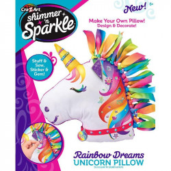 Cra-Z-Art Shimmer 'n Sparkle Make Your Own Unicorn Pillow