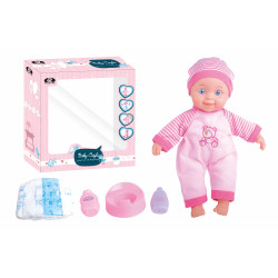 """P.JOY BABY CAYLA NAPPIES SET 12""""/30CM WITH 4 SOUNDS B/O"""