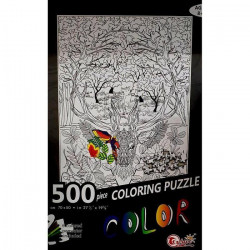 Coloring Puzzle 500 Pieces ( Forest )