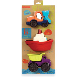 B. toys - Mini Toy Cars - Water & Sand Vehicles Beach Playset for Kids