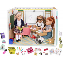 """Our Generation Awesome Academy School Set - 76 Pieces Set, Compatible with 18"""" Dolls"""