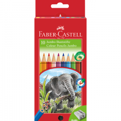 Faber castell- jumbo Triangular colored pencils- 10
