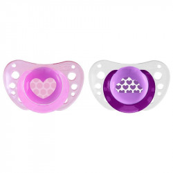 Chicco Physio Air Orthodontic Pink Soother 6-16m + 2pcs