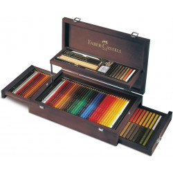 Faber-Castell Art and Graphic Collection Mahogany Vaneer Case