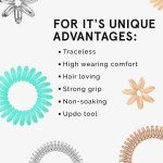 Invisibobble ORIGINAL Hair Ties, Crystal Clear, 3 Pack - Traceless, Strong Hold