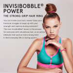 invisibobble POWER Hair Ties, Crystal Clear, 3 Pack - Extra Strong Grip, Waterproof, Traceless - Perfect for Sports, Suitable for All Hair Types