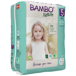Bambo Nature Diapers Size 5 (12-18 Kg), 22 diapers